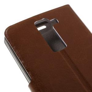 Horse PU kožené pouzdro na mobil LG K8 - hnědé - 7