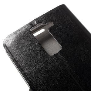 Horse PU kožené pouzdro na mobil LG K8 - černé - 7