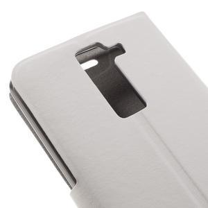 Horse PU kožené pouzdro na mobil LG K8 - bílé - 7