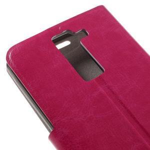 Horse PU kožené puzdro pre mobil LG K8 - rose - 7