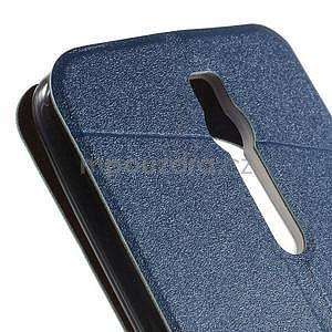 Modré klopové puzdro s okienkom na Asus Zenfone 2 ZE551ML - 7