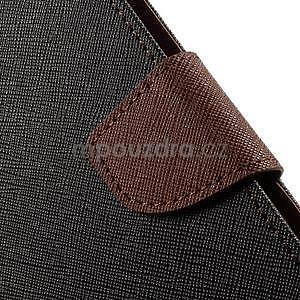 Zapínacie PU kožené puzdro na Asus Zenfone 2 ZE551ML - čierne/hnedé - 7