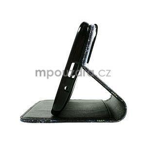 Zapínacie peňaženkové puzdro na Asus Zenfone 2 ZE551ML - modrý motýľ - 7