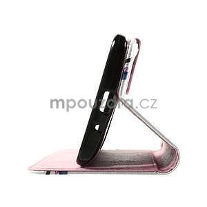 Zapínacie peňaženkové puzdro na Asus Zenfone 2 ZE551ML - kvetiny - 7