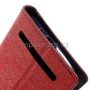 Zapínacie PU kožené puzdro na Asus Zenfone 2 ZE551ML - červené - 7