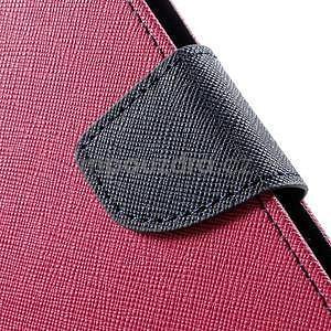 Zapínacie PU kožené puzdro na Asus Zenfone 2 ZE551ML - rose - 7