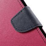 Zapínacie PU kožené puzdro na Asus Zenfone 2 ZE551ML - rose - 7/7