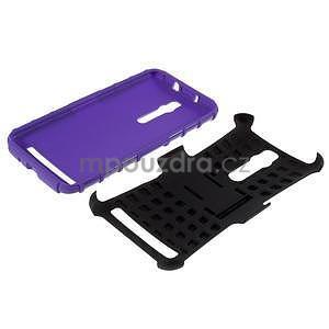Vysoko odolný gélový kryt so stojanom pre Asus Zenefone 2 ZE551ML - fialový - 7
