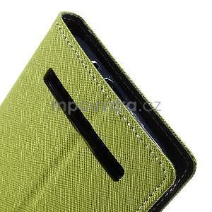 Zapínacie PU kožené puzdro na Asus Zenfone 2 ZE551ML - zelené - 7