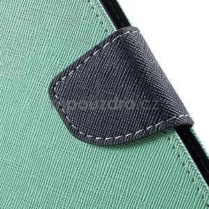 Zapínacie PU kožené puzdro na Asus Zenfone 2 ZE551ML - azúrové - 7