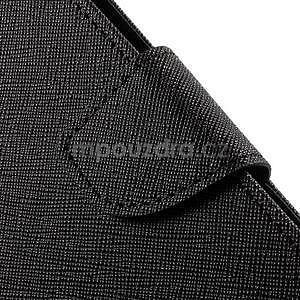 Zapínacie PU kožené puzdro na Asus Zenfone 2 ZE551ML - čierne - 7