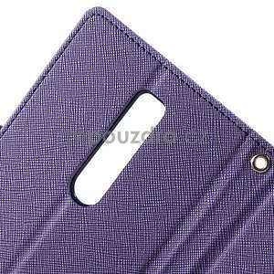 Zapínacie PU kožené puzdro na Asus Zenfone 2 ZE551ML -  fialové - 7