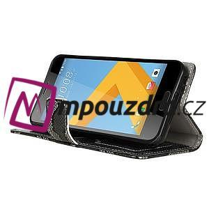 SnakeŠtýle PU kožené peňaženkové puzdro pre HTC One A9s - sivé - 7