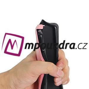 Flipové PU kožené puzdro pre mobil HTC One A9s - červené - 7