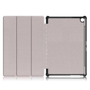 Trifold PU kožené polohovateľné puzdro na Huawei MediaPad M5 10 - hnedé - 7