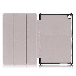 Trifold PU kožené polohovateľné puzdro na Huawei MediaPad M5 10 - rose - 7