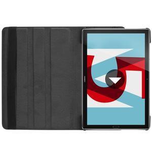 Litchi PU kožené puzdro na Huawei MediaPad M5 10 - čierne - 7