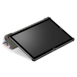 Emotive PU kožené puzdro na Huawei MediaPad M5 10 - motýliky - 7