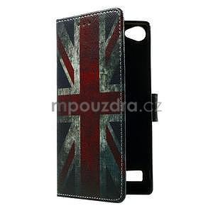 Peňaženkové PU kožené puzdro Lenovo Vibe X2 - UK vlajka - 7