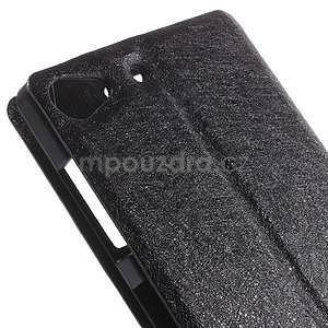 Kožený obal s okýnky na Lenovo Vibe X2 - čierny - 7