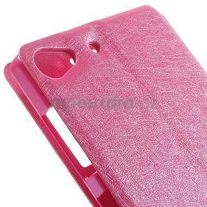 Kožený obal s okýnky na Lenovo Vibe X2 - rose - 7
