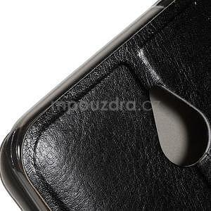 Peňaženkové PU kožené puzdro na Microsoft Lumia 640 XL - čierne - 7