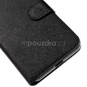 PU kožené puzdro na Microsoft Lumia 640 XL - čierne - 7