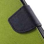 Dvojfarebné peňaženkové puzdro na iPhone 5 a 5s - zelené/ tmavomodré - 7/7