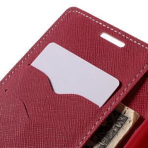 Diary PU kožené puzdro pre LG G4c- ružové - 7
