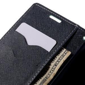 Diary PU kožené puzdro na LG G4c- cyan - 7