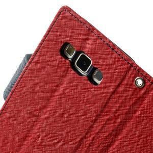 Diary PU kožené puzdro na Samsung Galaxy A3 - červené - 7
