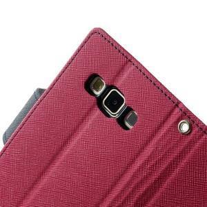 Diary PU kožené puzdro pre Samsung Galaxy A3 - rose - 7