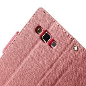 Diary PU kožené puzdro na Samsung Galaxy A3 - ružové - 7