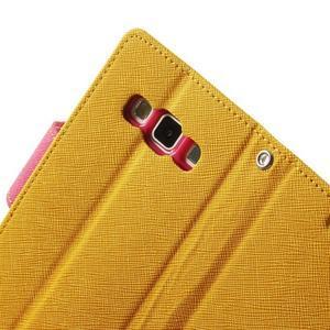 Diary PU kožené puzdro pre Samsung Galaxy A3 - žlté - 7