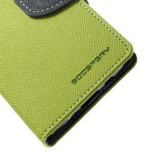 Diary PU kožené puzdro na Samsung Galaxy A3 - zelené - 7