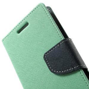 Diary PU kožené puzdro na Samsung Galaxy A3 - cyan - 7