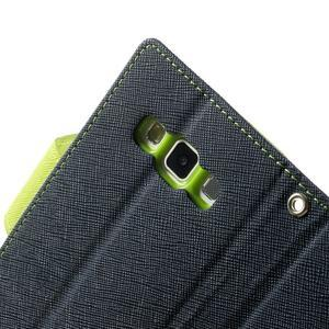Diary PU kožené puzdro pre Samsung Galaxy A3    - tmavomodré - 7