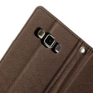 Diary PU kožené puzdro na Samsung Galaxy A3 -hnedé - 7