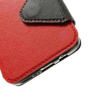 Roar peňaženkové puzdro s okienkom pre Samsung Galaxy A3    - červené - 7
