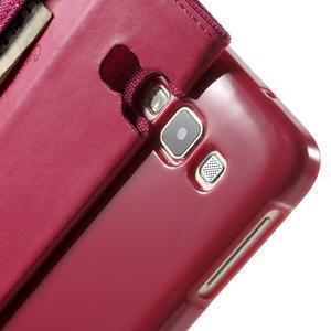 Luxury textilné / koženkové puzdro na Samsung Galaxy A3 - rose - 7