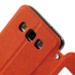 Roar peňaženkové puzdro s okienkom na Samsung Galaxy A3 - oranžové - 7