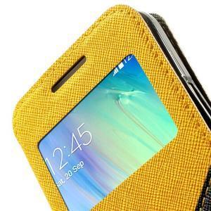 Roar peňaženkové puzdro s okienkom pre Samsung Galaxy A3    - žlté - 7