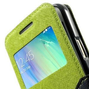 Roar peňaženkové puzdro s okienkom pre Samsung Galaxy A3 - zelené - 7