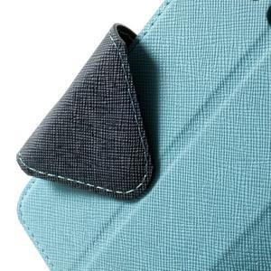 Roar peňaženkové puzdro s okienkom pre Samsung Galaxy A3 - svetlomodré - 7