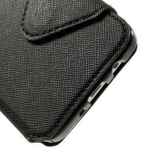 Roar peňaženkové puzdro s okienkom na Samsung Galaxy A3 - čierne - 7