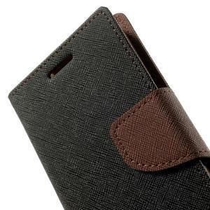 Fancy PU kožené puzdro pre Samsung Galaxy Core Prime - čierne/hnedé - 7