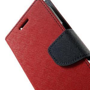 Fancy PU kožené pouzdro na Samsung Galaxy Core Prime - červené - 7