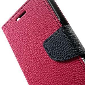 Fancy PU kožené puzdro pre Samsung Galaxy Core Prime - rose - 7