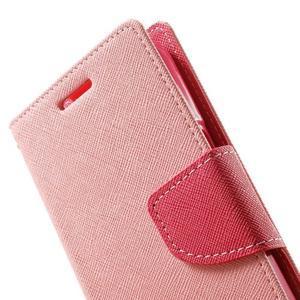 Fancy PU kožené puzdro pre Samsung Galaxy Core Prime - ružové - 7