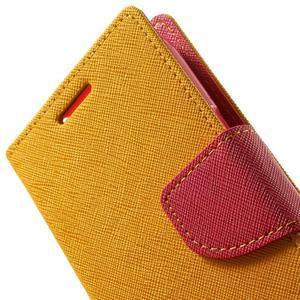 Fancy PU kožené puzdro pre Samsung Galaxy Core Prime - žlté - 7